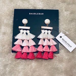 BaubleBar pink ombré statement earrings